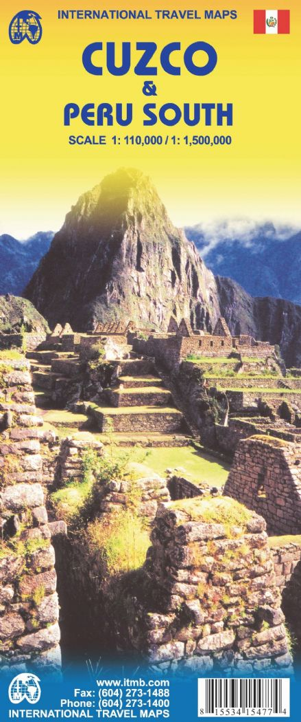 Cuzco & Peru South Travel Map